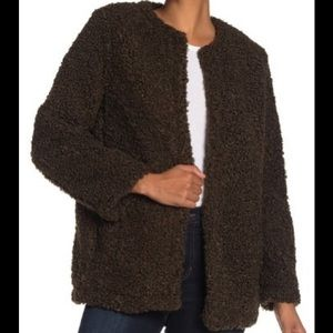 Olive Green Faux Shearling Jacket (Blazer)